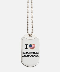 I love Victorville California USA Design Dog Tags