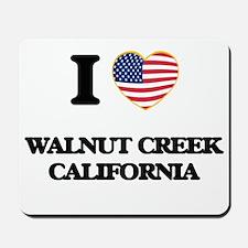 I love Walnut Creek California USA Desig Mousepad