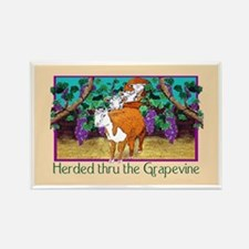 """""""HERDED THRU THE GRAPEVINE"""" Rectangle Ma"""