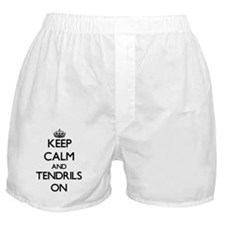 Keep Calm and Tendrils ON Boxer Shorts