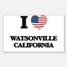 I love Watsonville California USA Design Decal