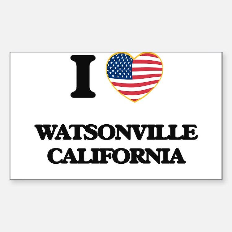 I love Watsonville California USA Design Decal