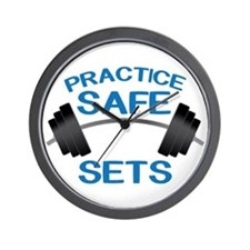 Practice Safe Sets Wall Clock