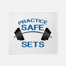 Practice Safe Sets Throw Blanket