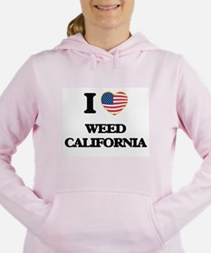 I love Weed California U Women's Hooded Sweatshirt