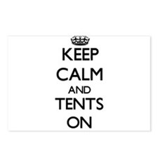 Keep Calm and Tents ON Postcards (Package of 8)