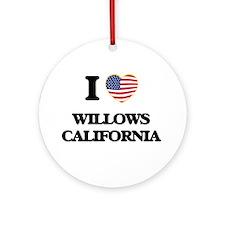 I love Willows California USA Des Ornament (Round)