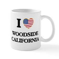 I love Woodside California USA Design Mugs