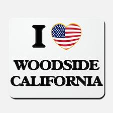 I love Woodside California USA Design Mousepad