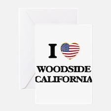 I love Woodside California USA Desi Greeting Cards