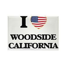 I love Woodside California USA Design Magnets