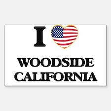 I love Woodside California USA Design Decal