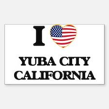 I love Yuba City California USA Design Decal