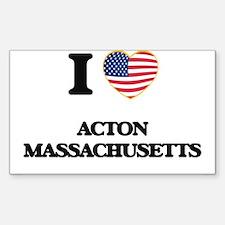 I love Acton Massachusetts USA Design Decal