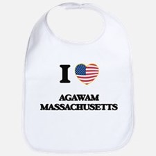 I love Agawam Massachusetts USA Design Bib