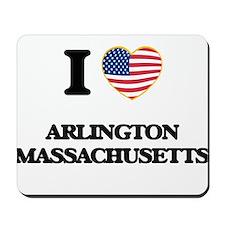 I love Arlington Massachusetts USA Desig Mousepad
