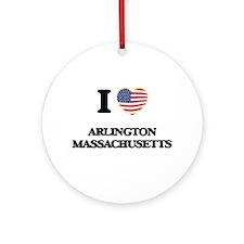 I love Arlington Massachusetts US Ornament (Round)
