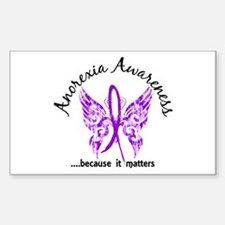 Anorexia Butterfly 6.1 Sticker (Rectangle)