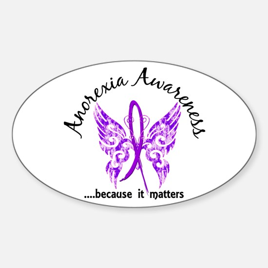 Anorexia Butterfly 6.1 Sticker (Oval)