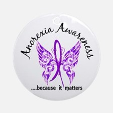 Anorexia Butterfly 6.1 Ornament (Round)