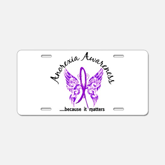 Anorexia Butterfly 6.1 Aluminum License Plate