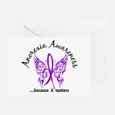Anorexia Butterfly 6.1 Greeting Card