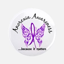 "Anorexia Butterfly 6.1 3.5"" Button (100 pack)"