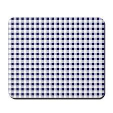 Blue Gingham Pattern Mousepad
