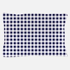 Blue Gingham Pattern Pillow Case