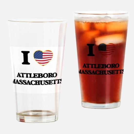 I love Attleboro Massachusetts USA Drinking Glass