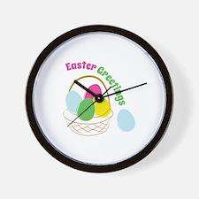 Easter Greetings Wall Clock