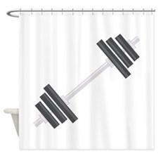 Barbell Shower Curtain