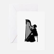 Harpist Greeting Cards