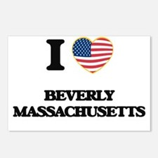 I love Beverly Massachuse Postcards (Package of 8)