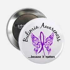 "Bulimia Butterfly 6.1 2.25"" Button"