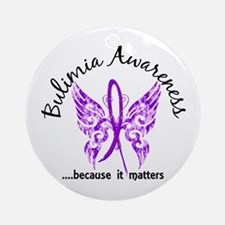 Bulimia Butterfly 6.1 Ornament (Round)
