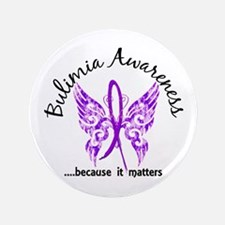 "Bulimia Butterfly 6.1 3.5"" Button (100 pack)"