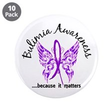 """Bulimia Butterfly 6.1 3.5"""" Button (10 pack)"""