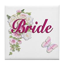 Bouquet Wedding - Bride Tile Coaster