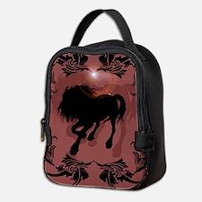 Horse silhouette in black Neoprene Lunch Bag