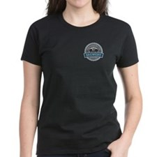 Woman's Dark T-Shirt Front And Back