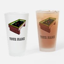 Pool Table (Custom) Drinking Glass