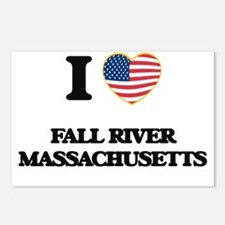 I love Fall River Massach Postcards (Package of 8)
