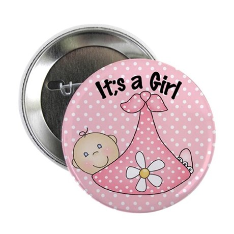 It's A Girl Baby Bundle Button