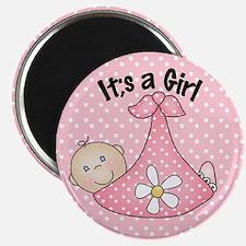 It's A Girl Baby Bundle Magnet