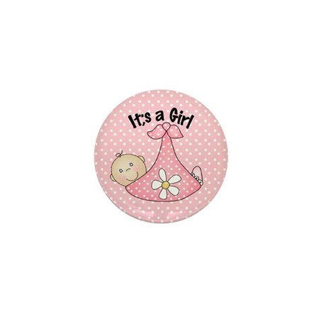 It's A Girl Baby Bundle Mini Button (100 pack)