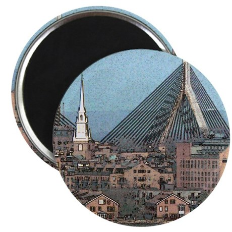 "Artistic Zakim Bridge 2.25"" Magnet (10 pack)"