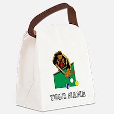 Billiards Player (Custom) Canvas Lunch Bag