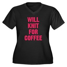 WILL KNIT FOR COFFEE Plus Size T-Shirt