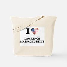 I love Lawrence Massachusetts Tote Bag